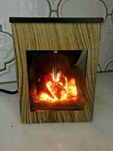 NEW Flickering Fireplace Decorative Wax Melts Burner Warmer Diffuser