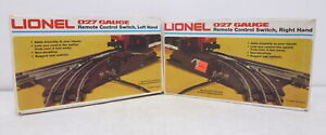 MM Lionel Remote Control Switch Right 6-5122 & Left 6-5121 w/ Instructions 027