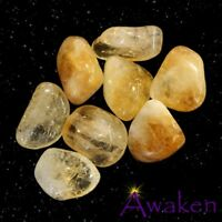 *ONE* CITRINE (Heat Treated) Natural Tumbled Stone Approx 15-20mm *TRUSTED SELLE