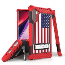 For Galaxy S10 S9 S8 Note 10 9 Hybrid Tri Shield Armor Case American USA Flag