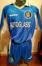 Chelsea Fc G.F Zola Match Worn authentic Umbro Jersey XL Complet