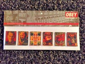 """Shepard Fairey Obey Giant Adhesivo 2.5/"""" Círculo Ornat Andre estrella de cartel impresión"""
