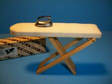 Concord Miniatures Doll House Furniture Ironing Board & Iron 2834 Some Wear