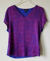 Mossimo Tunic Top Target Women's Career Office Work Blue Size Small