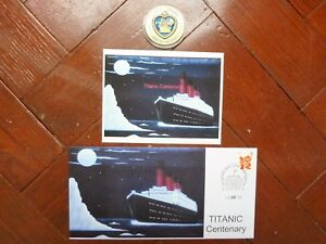 TITANIC COIN & TITANIC COVER & TITANIC POSTCARD 10th April Postmark Southampton