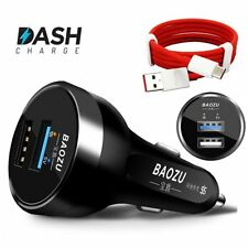 Original Dash Charge Technology Car Charger Dual USB Ports For OnePlus 5T 5 3T 3