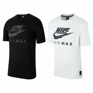 Mens Nike Air Max T-Shirt Short Sleeve Cotton Crew Tops Casual Soft Tee Shirts