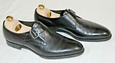 Men's sz 9.5 Edward Green black leather monk-strap loafer shoes - Worn once!