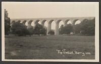 Postcard Barry Glamorgan Wales early view of Porthkerry Viaduct RP