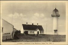 Gaspe Quebec Cap Madeleine Lighthouse Old Postcard