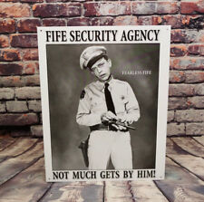 Fife Security Agency - Fearless Fife - Metal Sign for Man Cave, Garage, or Bar