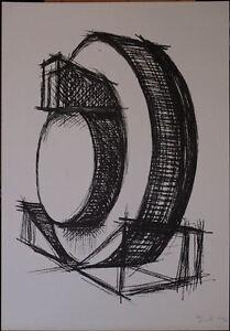 CARLO MO litografia STRUTTURA 1973 45x65 firmata e numerata  con cartellina