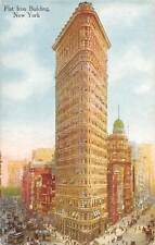 New York, Flat Iron Building, trams, auto cars, animated