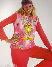 PIJAMA MUJER PIOLIN MASSANA WARNER Pigiama Titti TWEETY PAJAMA Pyjamas T./Size L
