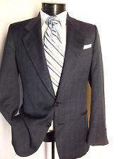 "Saks Fifth Avenue Ungaro Uomo Paris 2PC Suit Blu 38S Pants W30""/27""L"
