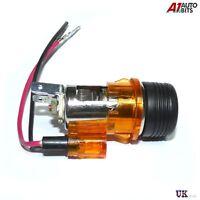 Amber/Orange Cigarette Lighter Universal 12V 12 VOLT SATNAV Socket NEW