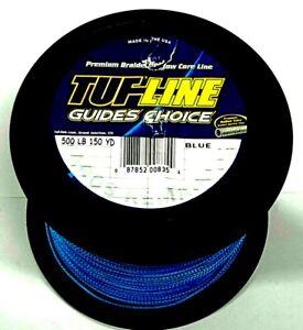 Tuf-line hollow core Braided Line 500lb /150 yrds blue braid leader line fishing