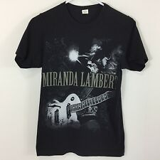 Miranda Lambert Women's Knit Top T-Shirt Black Gray Size XS Slim Fit Tee Guitar