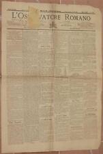L'OSSERVATORE ROMANO 23 24 MAGGIO 1899 NAPOLI CUNEO SARDEGNA ARRESTI BUDDUSO