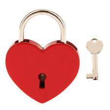 Heart Shape Padlock with Key Small Mini Lock with Key for Jewelry Box Diary Book
