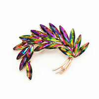 Women's Fashion Crystal Feather Wings Charm Betsey Johnson Brooch Pin Jewelry