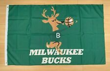 Milwaukee Bucks 3x5 ft Flag Banner NBA Retro Vintage Throwback