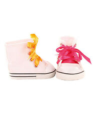 Gotz Hannah play doll White Canvas Boots with Ribbon Laces 3402620 NEW