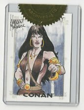 Conan the Barbarian Rittenhouse Sketch Card Sketchafex by Warren Martineck RARE