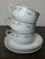Limoges Haviland France GENEVIEVE (H & CO) Cup and Saucer Set of Three