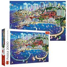 Trefl 2000 Piece Adult Large San Francisco Bay Sea Ships City Jigsaw Puzzle NEW