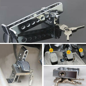 Anti-theft Device Clutch Tool Car Brake Stainless Safety Accelerator Pedal Lock