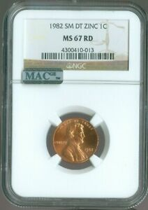 1982-S LINCOLN SMALL DATE CENT NGC MS-67 RD MAC QUALITY✔️