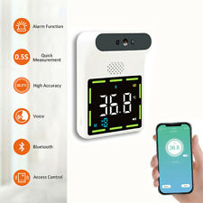 Wall Mount Digital Infrared Thermometer Automatic Non Contact Forehead Bluetooth