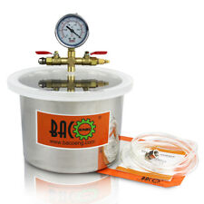 BACOENG 5.7 L 220mm(OD) x 150mm(H) Stainless Steel Degassing Vacuum Chamber