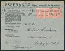 Frankreich 1930, ESPERANTO Brief nach LEIPZIG (71629)