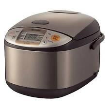 Zojirushi Micom Rice Cooker & Warmer, 10 Cup Stainless Brown Brand New