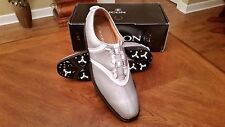 2014 Footjoy FJ ICON BOA MyJoys Mens Golf Shoes 52042 Silver/Wh 12N $349 RET