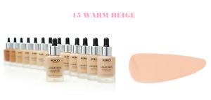 KIKO MILANO 15 WARM BEIGE Liquid Skin Second Skin Foundation SPF15