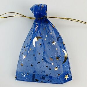 50-400 Moon Star Organza Bag Gift Bags Wedding Jewelry Drawstring Party Pouches