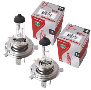 Headlight Bulbs Globes H4 for Mitsubishi Triton MK Ute 2.8 D 1996-2000