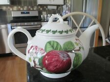 "Portmeirion Pomona Teapot Tea Pot ""HOREY MORNING APPLE""  5 Cup           ENGLAND"
