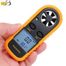 Handheld Digita Anemometer Wind Speed Meter 0-30m/s Temperature Tester -10 ~45C