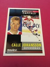 Calle Johansson  Capitals 1991-1992 Pinnacle #232