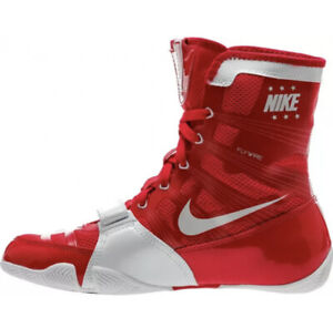 Nike HyperKO Boxing Shoes Boxing Boots Fly wire Red White Size 14