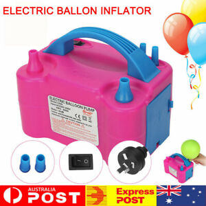 Electric Balloon Pump Ballon Inflator 600W Power 2 Nozzles Portable High Power