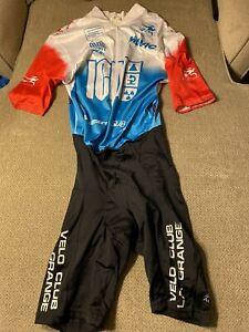 Men's Cycling Vintage Skinsuit Speedsuit Aussie Large L La grange