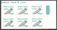 Italia 2010-13 Posta Italiana sestina euro 0,20 con codice a barre 1320