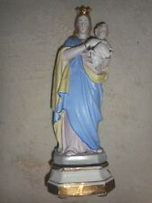 ANCIENNE STATUE RELIGIEUSE/ LA VIERGE A L'ENFANT/BISCUIT ANDENNE/FIN XIXè/H.36cm