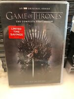 Game of Thrones: The Complete First Season (DVD, 2015, 5-Disc Set)