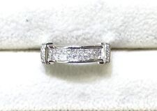 18k White Gold Invisible Diamond Rind (SZ:6.5)